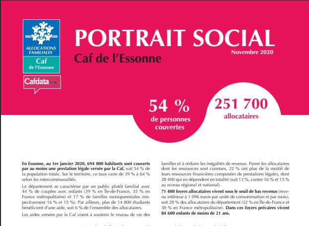 Portrait social Caf de l'Essonne - décembre 2020